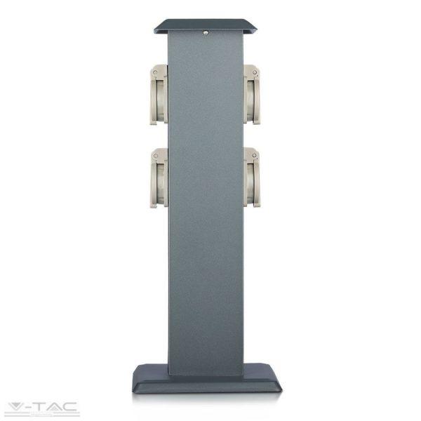 Oszlopos kerti négy csatlakozós konnektor IP44 - 8821