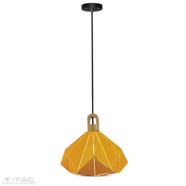 Sárga fém csillár E27 foglalattal - 3950