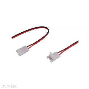 Csatlakozó 10 mm-es LED szalaghoz köthető vezetékkel - 2660