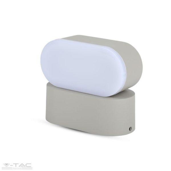 6W LED ovális fali lámpatest szürke IP65