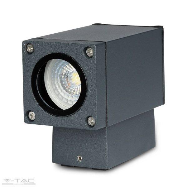 Sötét szürke fali lámpa GU10 foglalattal IP44 - 8626