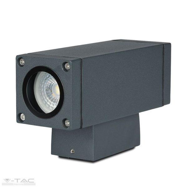 Sötét szürke fali lámpa UP and DOWN GU10 foglalattal IP44 - 8627