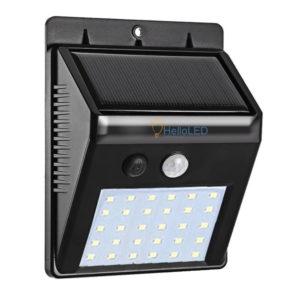 Solar LED lámpa 3 W-os, alkonykapcsolóval, mozgásérzékelővel