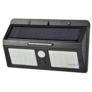 Solar LED lámpa 5 W-os, alkonykapcsolóval, mozgásérzékelővel