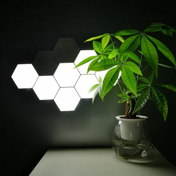 Érintős hexaled modul, fehér