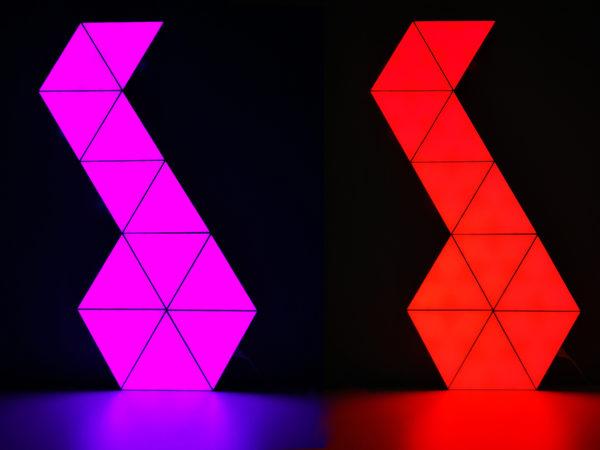 Érintős háromszög led modul, 12V, távirányítós, RGB, Quantum