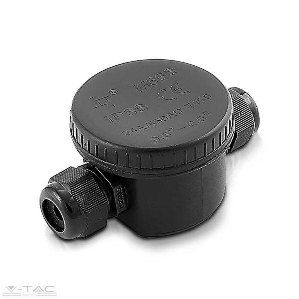 Vízhatlan kötődoboz fekete sorkapoccsal - 5987