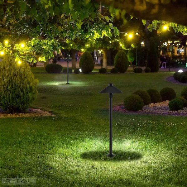 7W 2in1 fekete kerti lámpa IP65