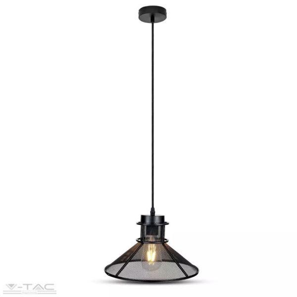 Fém hálós tányér csillár E27 foglalattal D:285mm - 3860
