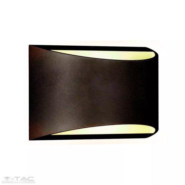 10W LED fel-le világító fali lámpa fekete 4000K IP54 - 8684