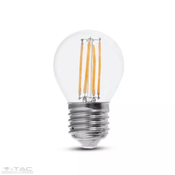 6W Retro LED izzó Filament E27 G45