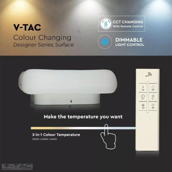 26W LED dimmelhető design csillár szögletes fehér - 3970