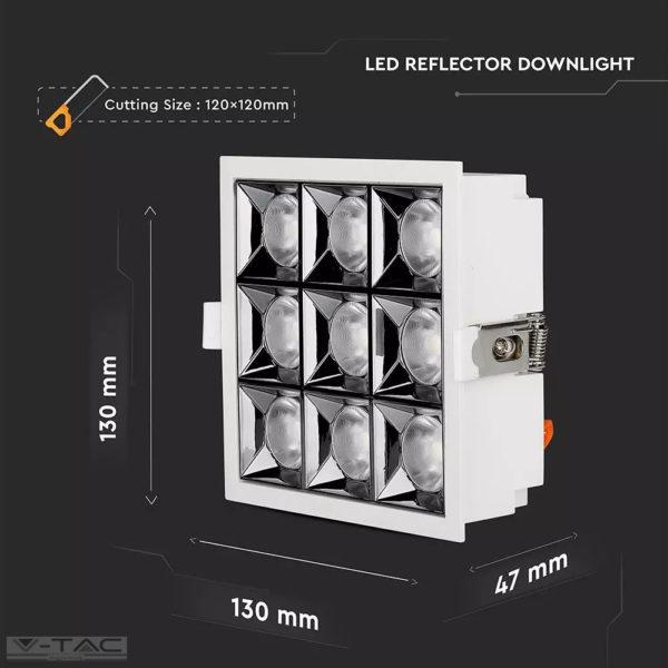 36W LED mélysugárzó fehér Samsung chip CRI>90 UGR